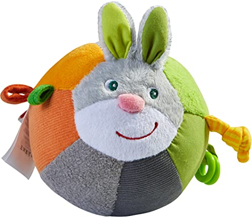 HABA 305829-Stoffball Hase Hops, Ball AB 6 Monaten Pelota, Color Gris (305829)