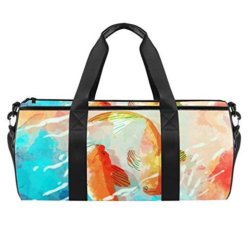 TIZORAX - Bolsa de lona con bolsillo impermeable para dos carpas de acuarela, para gimnasio, bolsa de viaje