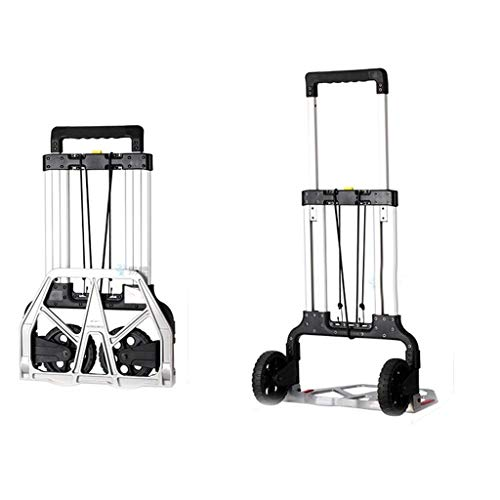 XUSHEN-HU Carro de la compra plegable para camión de mano, carrito de equipaje, carrito pequeño, para el hogar, al aire libre, regalo móvil (color: blanco, tamaño: 79 x 48 x 6 cm) cocina