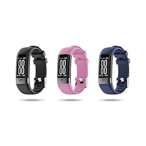 BAN SHUI JU MINSU GUANLI Pulsera Inteligente G36 Pantalla Vertical Análisis del Sueño del Corazón Posicionamiento Móvil Reloj Monitoreo De Salud Una Pulsera (Color : Blue, Size : M)