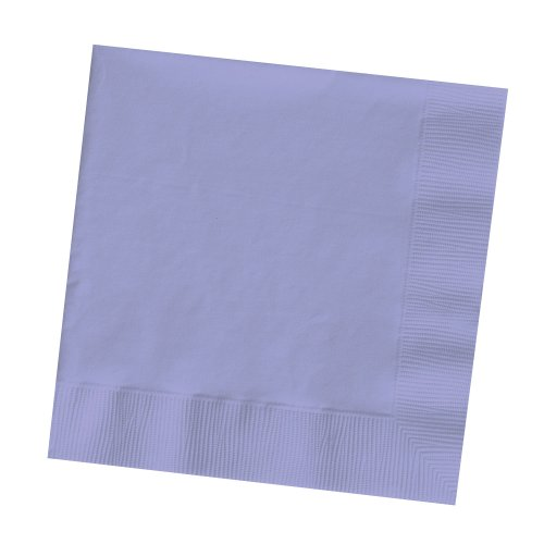 50-Count Touch of Color 3-Ply Paper Beverage Napkins, Luscious Lavender