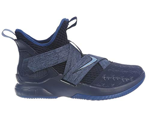 Nike Lebron Soldier XII Mens Fashion-Sneakers AO2609-401_11.5 - Blackened Blue/Work Blue-Gym Blue