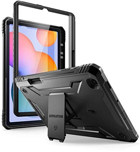 POETIC Revolution Series - Funda para Samsung Galaxy Tab S6 Lite con soporte para bolígrafo S de 10,4 pulgadas, modelo SM-P610/P615 (versión 2020), color negro