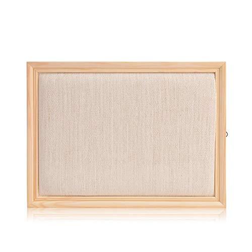 Yodio Estante de joyería de madera maciza para colgar en la pared, para colgar pendientes, collares, joyas, para el hogar, pendientes (beige)