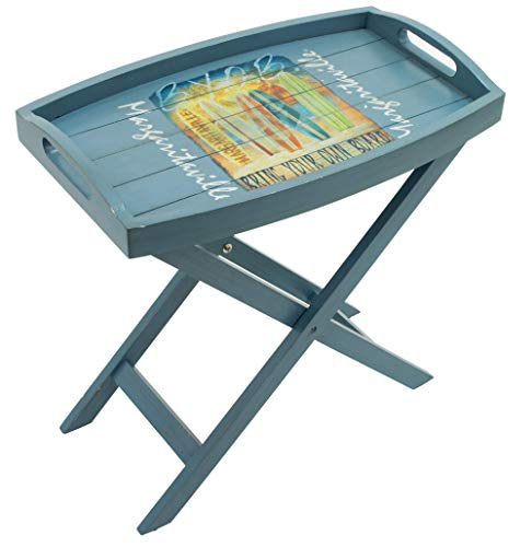 Margaritaville Outdoor Margaritaville Indoor/Outdoor Folding Wooden Butler Table, Bring Your Own Board