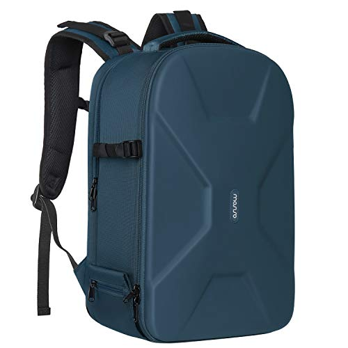 MOSISO Camera Backpack,DSLR/SLR/Mirrorless Photography Camera Bag Waterproof Hardshell Protective Case with Tripod Holder&Laptop Compartment Compatible with Canon/Nikon/Sony/DJI Mavic Drone, Deep Teal