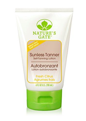 Nature's Gate Natural Sunless Tanner, Fresh Citrus Self Tanning Lotion with Aloe and Olive Oil, Paraben Free, Pthalate Free, 4 Ounce (Pack of 2)