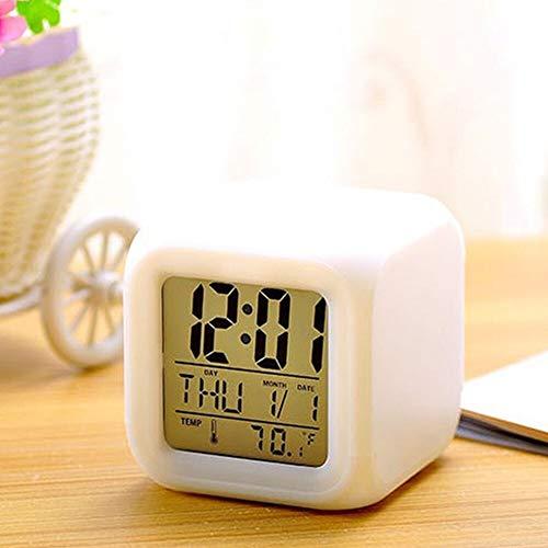 Andere Appliance Multi-functie 7 Kleuren wijzigen LED digitale wekker Cube Glowing in the Dark display Tijd Datum Week Temperatuur Home Kitchen supplies