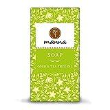 Manna Seife | Gegen fettige Haut und Pickel | COCO Seife mit Teebaumöl | 90 g | sanfte Hautpflege,...