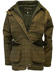 Walker & Hawkes Derby Tweed Shooting Country Jacket - Chaqueta de tweed para mujer, color beige