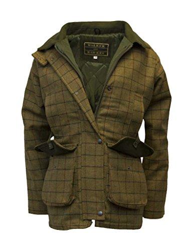 Walker and Hawkes Damen Country-Jacke aus Tweed - für die Jagd geeignet - Beige - Größen 34 bis 48