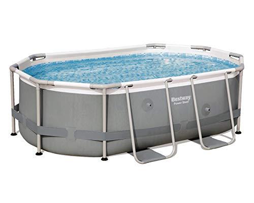Bestway Power Steel Frame-Pool, Oval ohne Pumpe und Zubehör, Ersatzteil, Grau