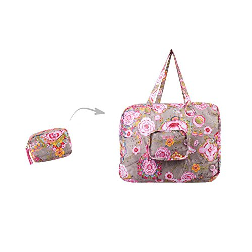 Oilily Fantasy Flora Folding Carry All Biscuit
