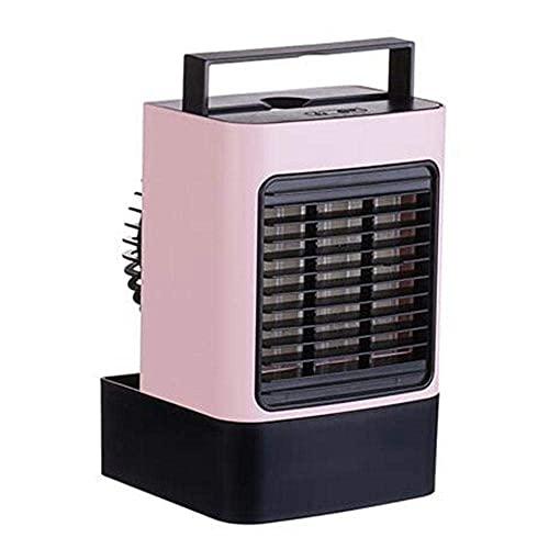 KELITINAus Condizionatore D'Aria Portatile Mini Rafdatore D'Aria Personale Ventilatore Silenzioso Senza Scatola per Foglie Ideale per il Lavoro e L'Uso Domestico-Blue Wtz012,Rosa