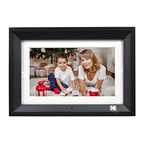 KODAK Wood Digital Picture Frame 10 inch 8GB Memory with Remote Control High Resolution Digital Photo Frame