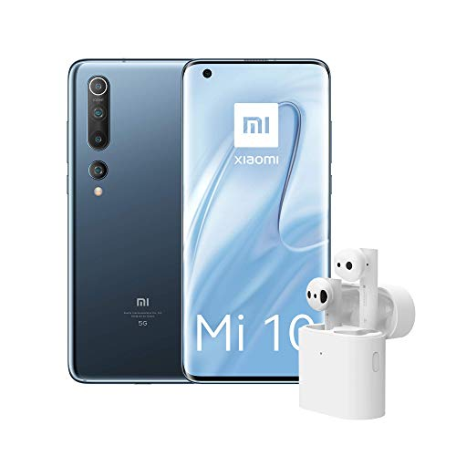 Xiaomi Mi 10 Smartphone, 256 + 8 GB, Twilight Grey +Xiaomi Mi True Wireless Earphones 2