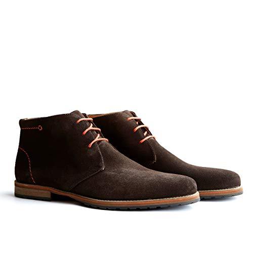 Travelin' Liverpool Wildleder Chukka Boots - Business Schuhe mit Schnürsenkel - Braun EU 46