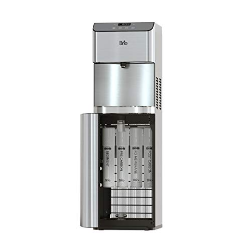 Brio Moderna Reverse Osmosis Bottleless Water Cooler Dispenser - Self-Cleaning, Dispenses Hot and Cold Water, TDS Meter, Child Safety Lock, Digital Display and LED Light