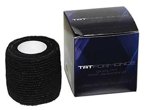 1 Rolle elastische Grip Bandage von Tatformance 5 cm x 4,5 m schwarz