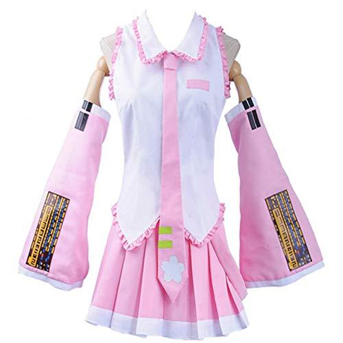 BMDHA Hatsune Miku De Mujeres Cosplay Disfraz Ideal para Disfraz de Anime,Rosado,S