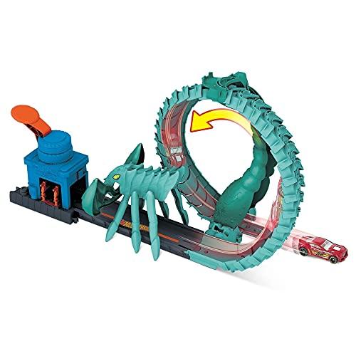 Hot Wheels City Ataque del escorpión, pista de coches de juguete, incluye 1 vehículo (Mattel GTT67)