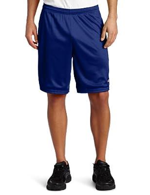 Champion Men's Long Mesh Short with Pockets,Stadium blue,Large