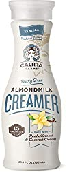 Califia Farms - Vanilla Coffee Creamer with Almond Milk and Coconut Cream, 25.4 Oz, Low Calorie and