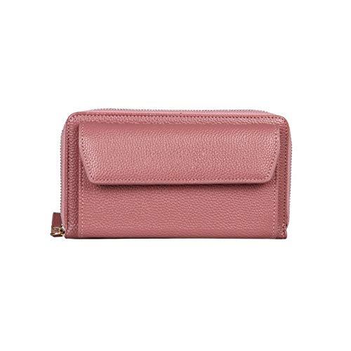 NOLOGO Wallet Mode weibliche Tasche einfache Schulter Umhängetasche Handytasche Coin Pocket (Color : Purple)