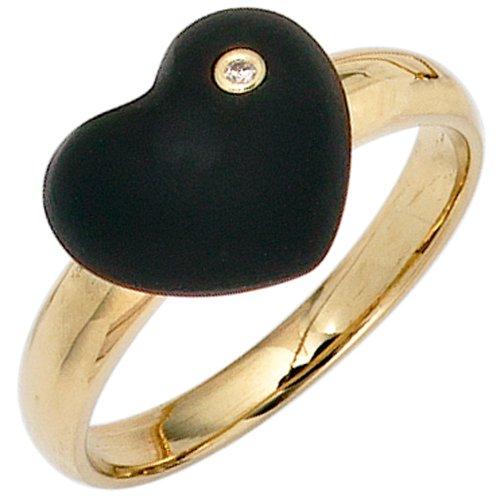 Schmuck-Krone - Goldschmuck FINERING - Anello, con Diamante, Oro giallo, misura 16