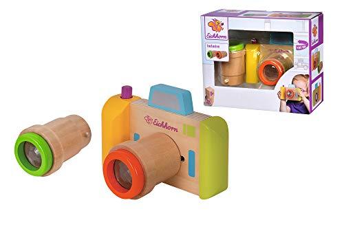 Eichhorn 100003470 Kamera und Kaleidoskop inkl. 2 Objektiven mit Drehfunktion, tolle Effekte, aus Holz, für Kinder ab einem Jahr