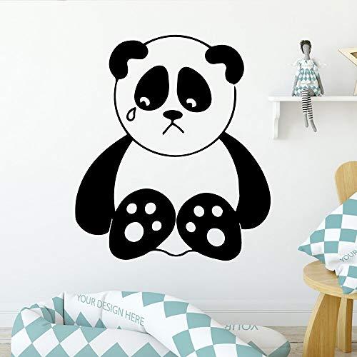 Pegatinas de vinilo ambiental de Panda de dibujos animados, decoración del hogar, pegatinas creativas, calcomanías de arte mural, papel tapiz A8 57x65cm