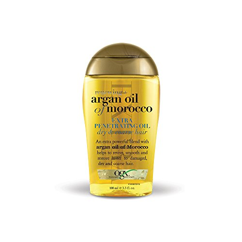 OGX  Renewing Moroccan Argan Oil Extra Strength Penetrating Oil for Dry/Coarse Hair, (1) 3.3 Ounce Bottle, Paraben Free, Sulfate Free, and Sustainable Ingredients