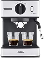 Sunbeam EM3820 Café Espresso II Coffee Machine | Espresso, Latte & Cappuccino Coffee Maker| 1.7L Water Tank | Milk...