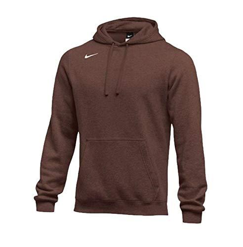 Nike Men's Pullover Fleece Club Hoodie (Large, Dark Brown)