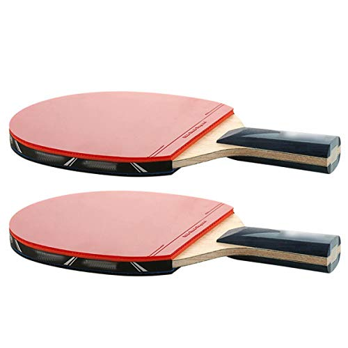 Best Prices! Yigeyi Portable Professional Ping Pong Paddle, (2 Pcs) Performance-Level Table Tennis R...