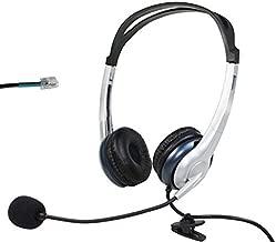 Voistek A2K20HS Dual Ear Call Center Telephone Headset with Noise Canceling Microphone