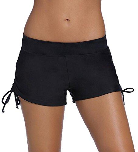 RUIXIN Pantaloncini da Bagno Donna, Sportivo Estate Beach Bikini Nero Costume da Bagno Nuoto Shorts Donne Moda da Bagno