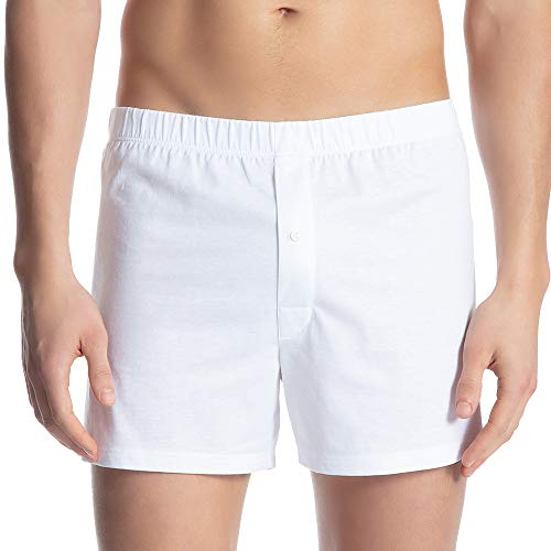 CALIDA Cotton Code Boxer, Bianco (Weiss 001), Large Uomo