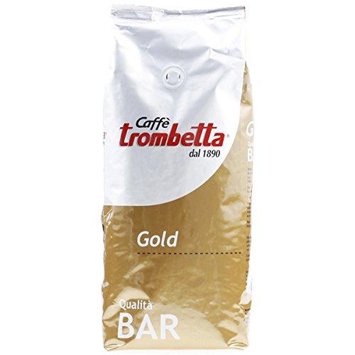 Trombetta Caffe Gold bar Whole Espresso Coffee Beans, 2.5 Lb Italian Coffee Beans Whole