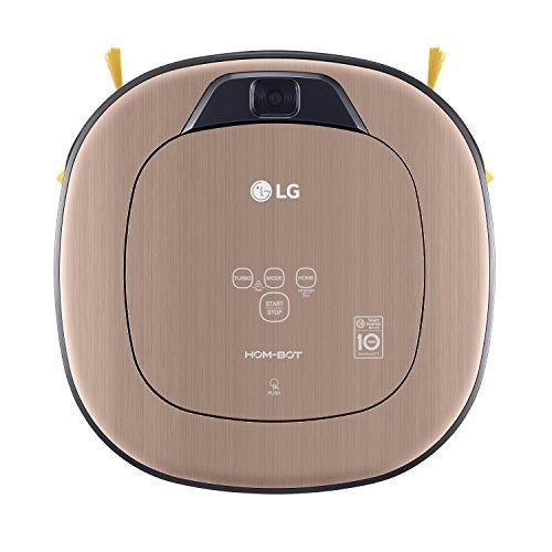 LG Electronics VRD 830 MGPCM Total Care Roboter-Staubsauger (Raumerkennung durch Dual-Kamera System, 4 Reinigungsmodi, inkl. Wischmopp und Teppich- und Tierhaarbürste) metal gold