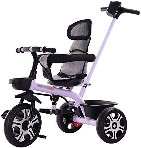 Triciclo para Niños Triciclo niños, con extraíble padres empujan a barra de la manija, los niños de 3 ruedas bicicleta de pedales, con neumáticos de espuma, for 1-6 años Los niños y niños pequeños - 2