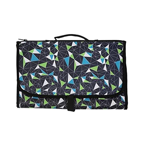 WangQianNan Pañal plegable impermeable de viaje multifuncional portátil 3 en 1 para pañales de bebé plegable bolsa de pañales conveniente para viajes (color: D)