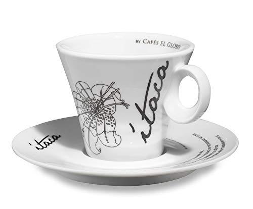 El Globo café & mucho más Juego de Tazas de Ítaca 6 Unidades de Porcelana (Grande)