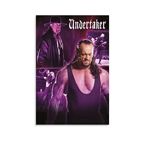 ASDJJ Wrestling – The Undertaker Leinwand-Kunst-Poster und Wandkunstdruck, modernes Familienschlafzimmerdekor, Poster 60 x 90 cm
