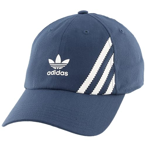 adidas Originals Men's SST Relaxed Fit Adjustable Cap, Crew Navy/White, One Size