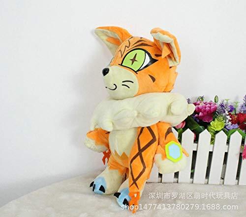 stogiit Digimon Digital Tyrannosaurus Maine Katze Tier Anime Plüschtier Geschenk Clip Maschine Puppe 30Cm