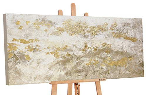 YS Cuadro Hecho a Mano Art «El Brillo del Oro» con Pinturas acrílicas sobre Lienzo con Bastidor