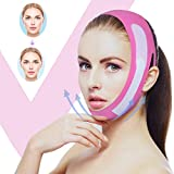 Facial Slimming Strap Face-Lifting Bandage -V Shape Line Lifting Double Chin Reducer, Chin Neck and Chin Lift for Women Eliminates Sagging Pink