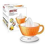 Imetec CP4 - Exprimidor eléctrico, Cono universal, Filtro antipulpa, Doble sentido de rotación, con filtro BPA Free, Recipiente 300 ml