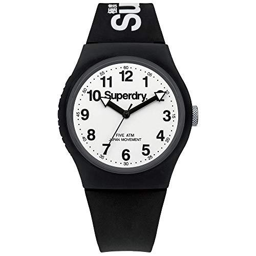 SUPERDRY Unisex Analog Quarz Uhr mit Silikon Armband SYG164BW